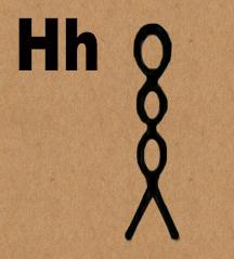 Letter H in hieroglyphics - wick