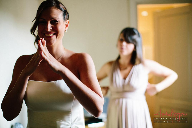 bride getting ready foto matrimonio