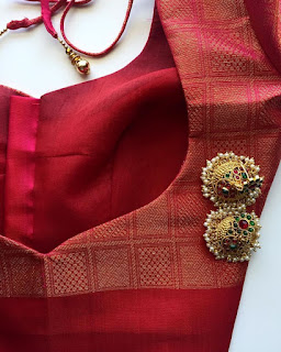 designer blouse patterns with patch work