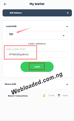 How To Get Free 1GB Data From Gidimo App