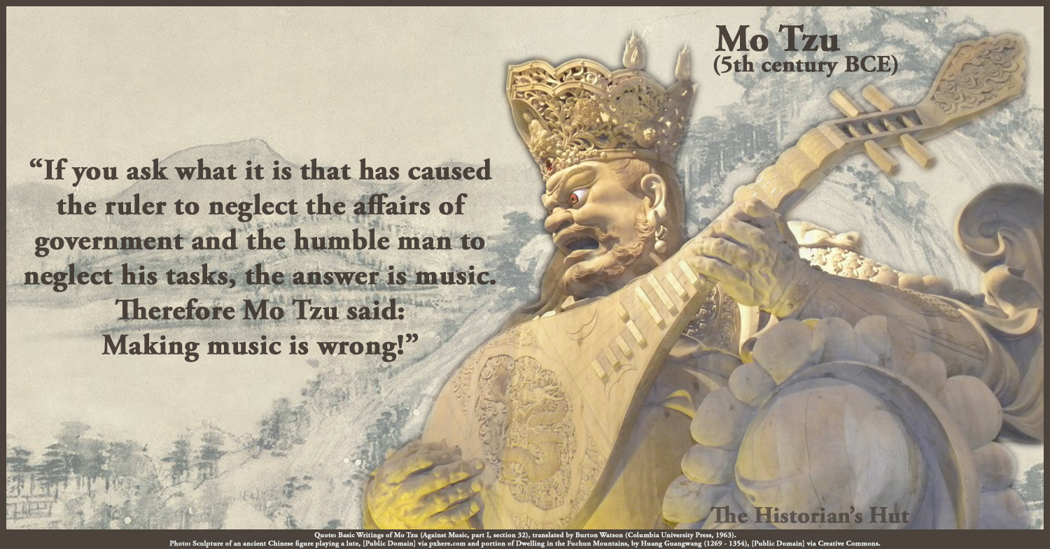 mo tzus argument against music essay Mo tzu's against music is not against music: how mo tzu critiques early chinese class based society in their musical practices music in mo tzu's china was a historical and religiously based event music has always been a form of expression in chinese cultural.