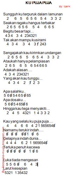 Kau Ku Puja Puja Chord : chord, Angka, Pianika, Ipank