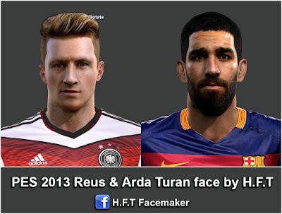 PES 2013 Reus & Arda Turan face by H.F.T