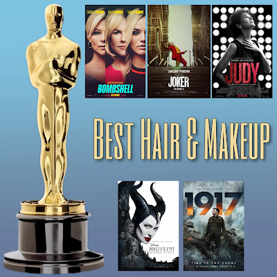 Photo: Academy Award nominees for best makeup and hairstyling include Bombshell, Joker, Judy, Maleficent: Mistress of Evil and 1917