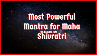 Most Powerful Mantra for Maha Shivratri