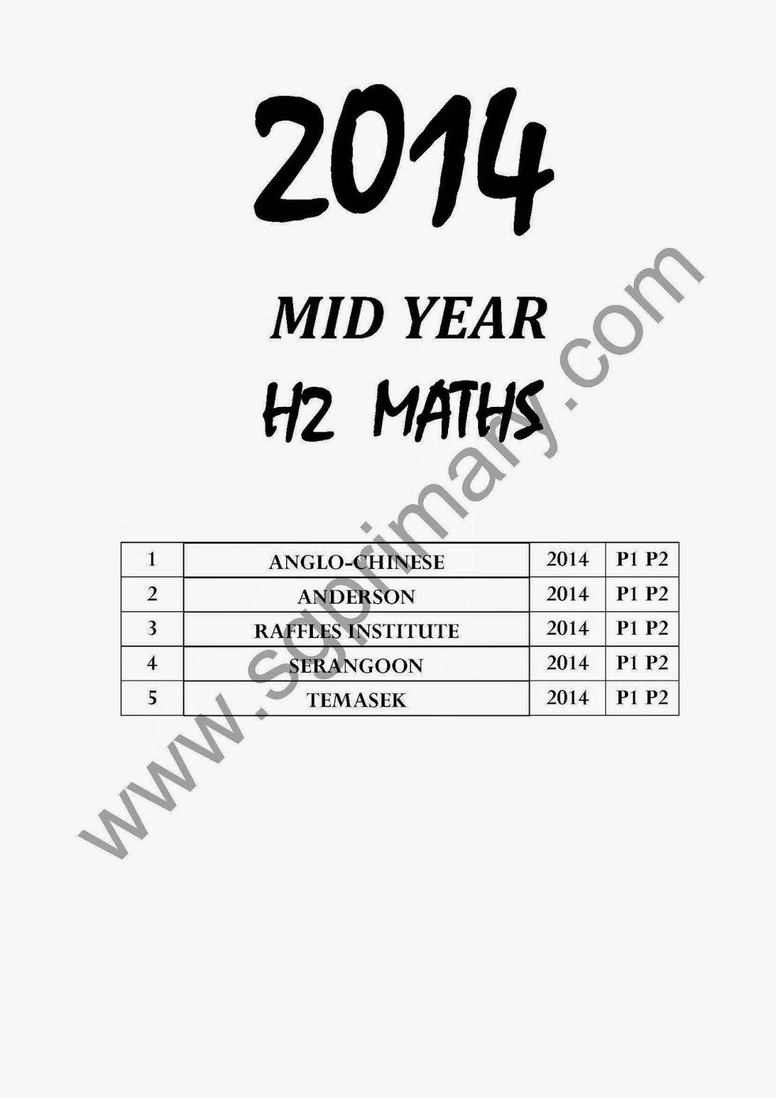 Top Primary School Exam Paper : 2018 Junior College