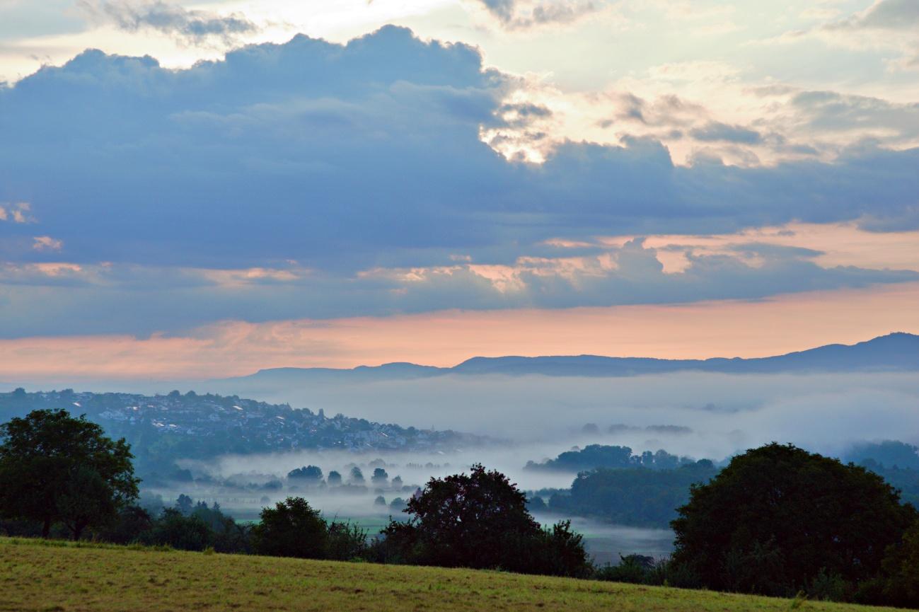 Bilder des Tages #134 — Licht und Nebel im Neckartal