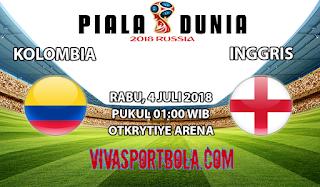 Prediksi Bola Kolombia vs Inggris 4 Juli 2018
