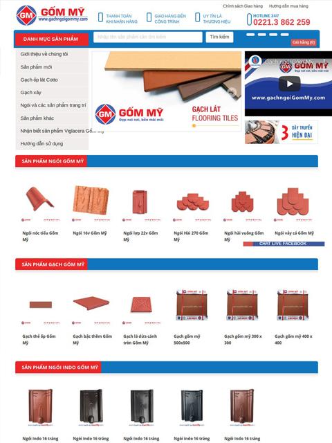 Website nhà phân phối Gạch ngói Gốm Mỹ - Ảnh 1