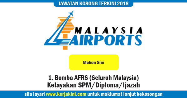 jawatan kosong 2018 malaysia airport