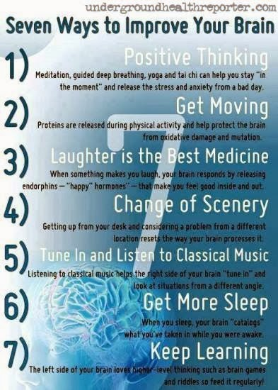 HAPPY LIFE SUPPORT.DK: 7 Ways to Improve Your Brain