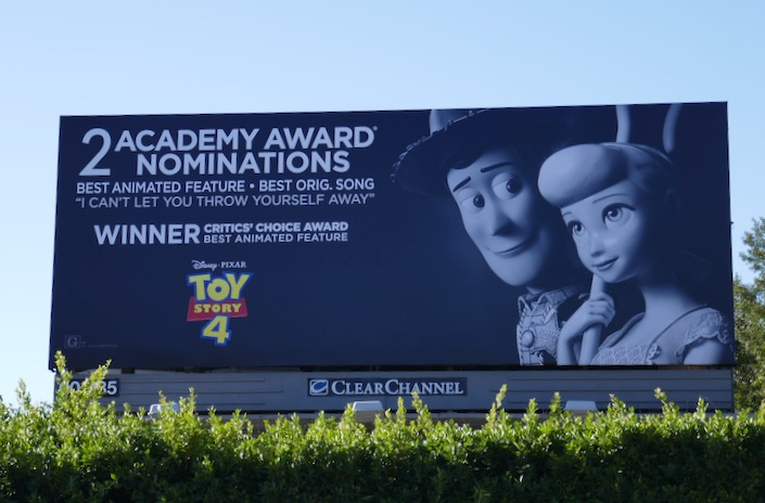 Toy Story 4 Academy Award nominee billboard