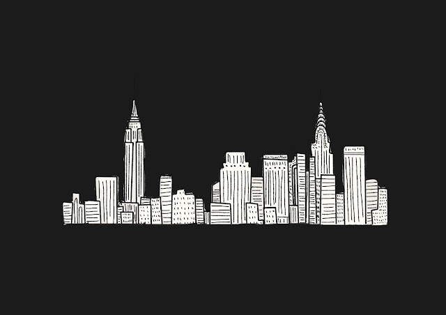 Skyline NY illustration