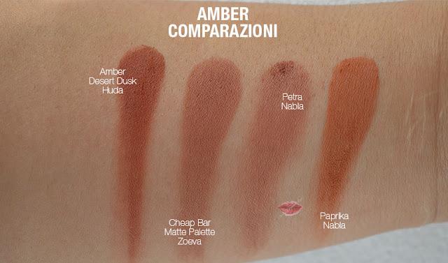swatch dupe amber huda beauty desert dusk
