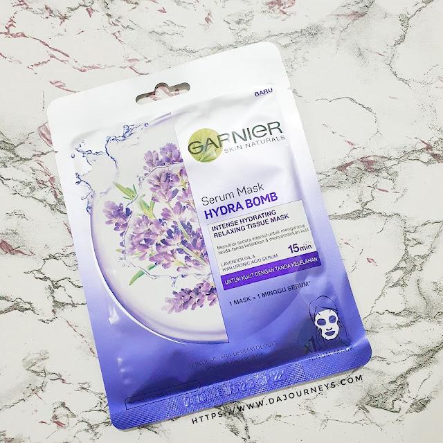 Review Garnier Serum Mask Hydro Bomb Lavender Oil