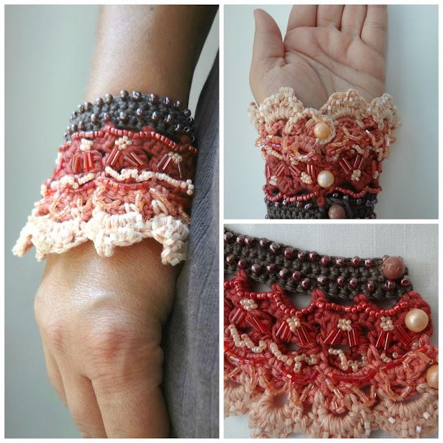 Little Treasures Turkish Delight Cuff A Crochet Pattern
