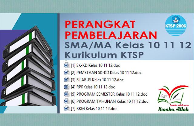 Kumpulan Perangkat Pembelajaran KTSP Lengkap Untuk SMA-MA