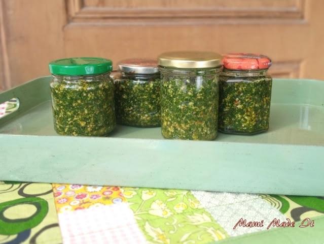 Bärlauchpesto - Ramsons pesto (Wild Garlic)