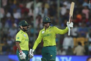 Quinton de Kock 79* vs India Highlights