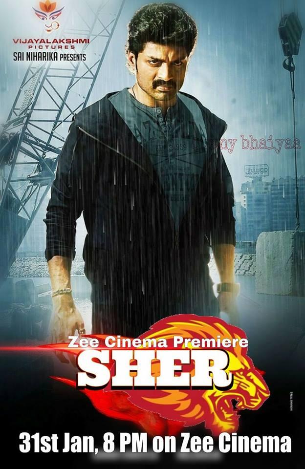 Sher (2015) 720p UNCUT HDRip x264 [Dual Audio] [Hindi DD 2.0 - Telugu DD 5.1]