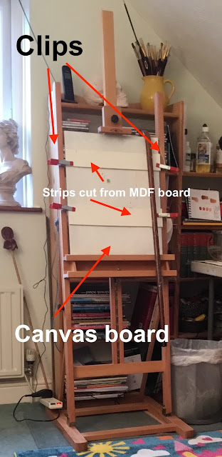 How to Set up a studio easel to hold small panels