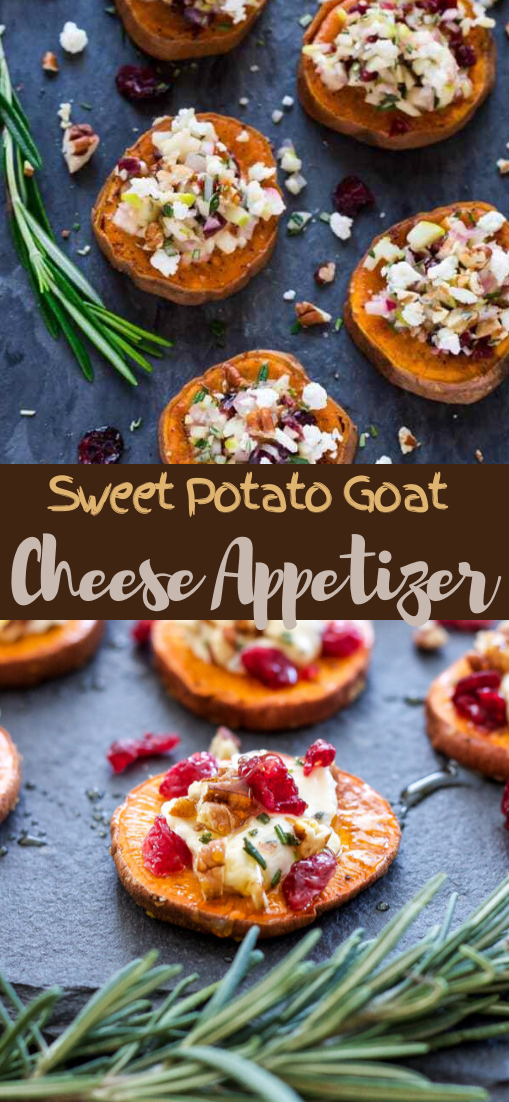 Sweet Potato Goat Cheese Appetizer #healthyrecipe #dinnerhealthy #ketorecipe #diet #salad