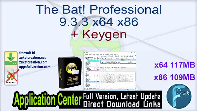 The Bat! Professional 9.3.3 x64 x86 + Keygen