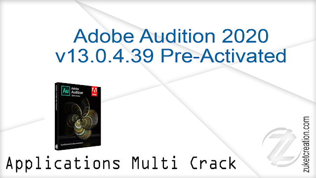 Adobe Audition 2020 v13.0.4.39 Pre-Activated