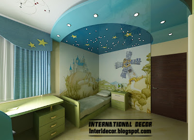 Best creative kids room ceilings design ideas, cool false ceiling blue starry sky