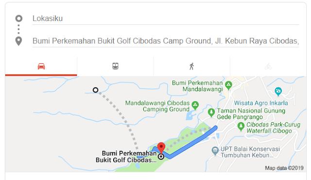 Rute Menuju Lokasi Bumi Perkemahan Bukit Golf Gunung Gede Pangrango Cibodas