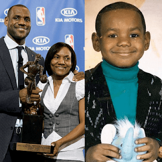 LiBron-James-childhood-photo-with-his-mom-Gloria