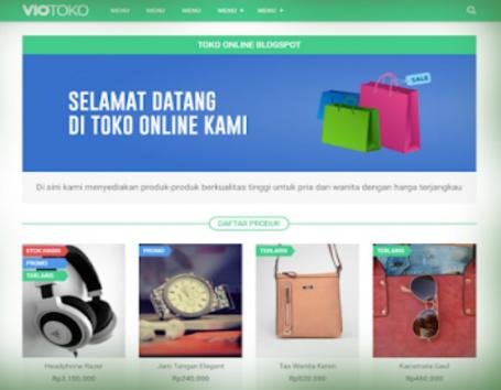 Viotoko Online Sales Blogger Template Download