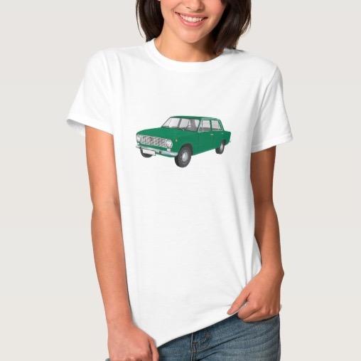 fiat, 124, t-paita, t-shirt