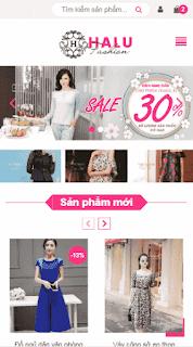 Giao diện blogspot bán hàng Halu Fashion