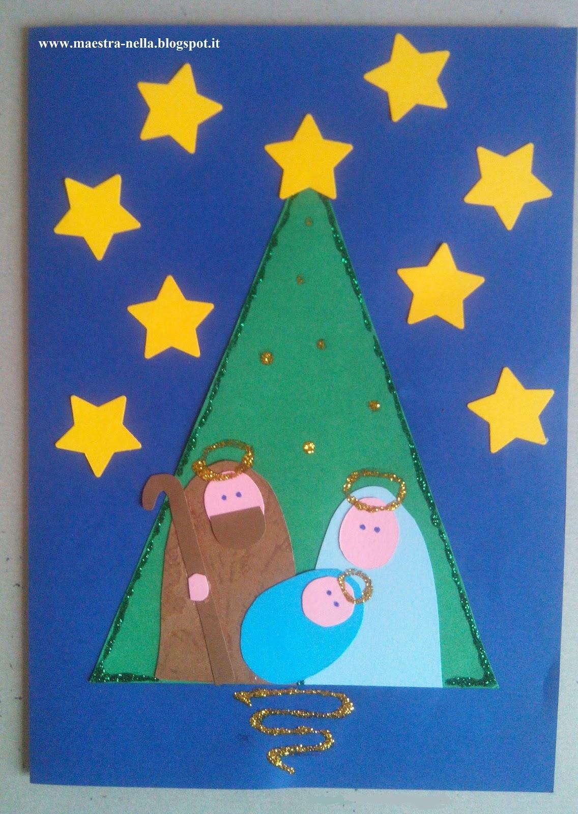 Biglietti Di Natale Scuola Infanzia Da Colorare.Maestra Nella Biglietti Di Natale