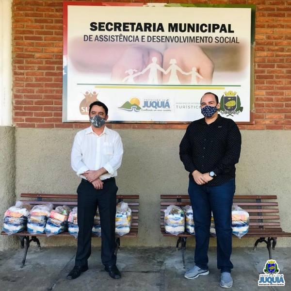 SECRETARIA MUNICIPAL DE ASSISTÊNCIA E DESENVOLVIMENTO SOCIAL DE JUQUIÁ RECEBE DOAÇÃO DE ALIMENTOS DA POLÍCIA CIVIL