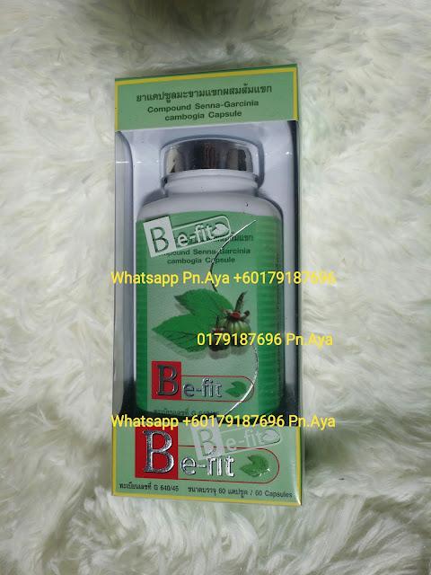 Thanyaporn BE-FIT Garcinia Cambogia Slimming Pills  1 BOTOL RM35 S/M..FREE POSLAJU 1 BOTOL RM40 S/S..FREE POSLAJU  HARGA PROMOSI 3 BOTOL RM100 S/M..FREE POSLAJU 3 BOTOL RM110 S/S..FREE POSLAJU  Whatsapp Pn.Aya 0179187696  Fungsi Garcinia Cambogia Supplemen dari jenis herba yang dipasarkan sebagai ejen penurunan berat badan kerana ia mengandungi kompaun bernama Hydroxycitric Acid (HCA) yang membantu merawat obesiti. Herba ini mampu Mengawal selera makan selama beberapa jam lamanya:  • Mendapat lebih tenaga untuk aktiviti fizikal  • Mengurangkan nafsu untuk makan  • Menaikkan kadar metabolisma dan pembakaran kalori  • Menurunkan berat badan dengan berkesan dan terkawal  • Membakar lemak berlebihan dengan pantas  • Mengawal berat badan dengan mudah  • Tiada kesan sampingan yang negatif   Kebaikan Garcinia Cambogia :  • Berkesan mengurangkan berat badan  • Menghalang selera makan  • Menghalang pembentukan lemak  • Mengurang kolesterol  • Menambahkan tenaga   - HCA dalam garcinia combogia amat berkesan menahan kegemukan selepas memiliki berat badan idaman. - Merawat masalah kemurungan, susah tidur, migraine, gastrik, kencing manis, darah tinggi. Kuantiti Dalam Botol : 60 caps / bottle & 1 Biji Kapsul Mengandungi 315mg garcinia combogia. Cara Pengambilan : 2-3 capsules before sleep (sekali sehari). PRODUK INI PRODUK SLIMMING DAN BUKANNYA PRODUK WEIGHT LOSS SEMATA!!! APAKAH BEZANYA? Perlu diketahui, produk ini bukan weight loss tetapi slimming produk. Apa bezanya weight loss dan slimming produk? WEIGHT LOSS: adalah bertujuan untuk kurangkan berat. Anda cuma lihat di mesin penimbang dan berat anda kurang. Anda gembira dan suka hati kemudian memberitahu kawan-kawan anda yang anda telah kurus. Tapi apa yang kurang? Air atau lemak? Kebanyakan weight loss produk mengeluarkan air dan mengecutkan lemak pada badan. Anda fikir anda telah kurus. Tetapi anda menangis bila kawan-kawan anda mentertawakan anda bila telah kembang semula selepas bergaya di depan mereka sebelum ini. Apabil