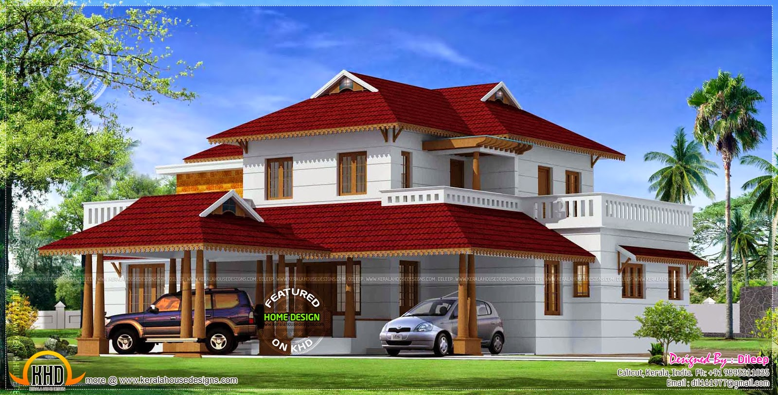 House traditional kerala style kerala home design and for Conventional style home