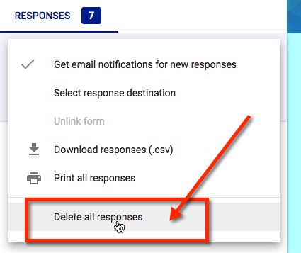Google - Reset a Form for Reuse with the new School Year