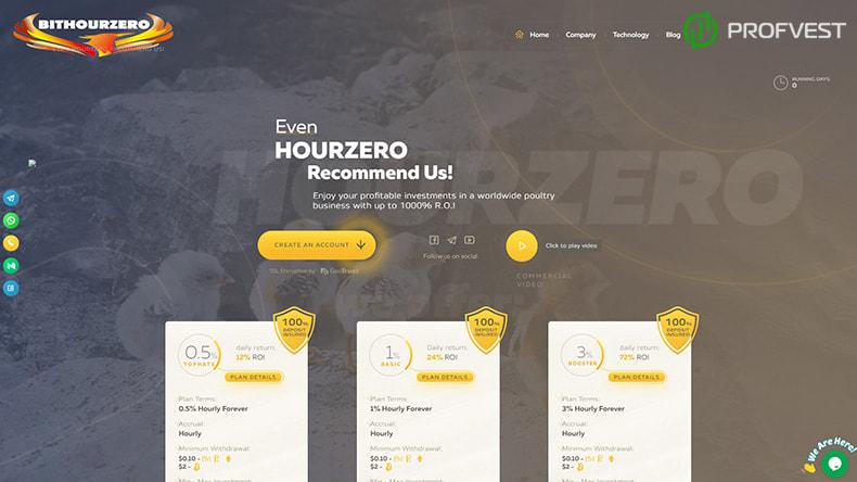 HourZero LTD обзор и отзывы HYIP-проекта