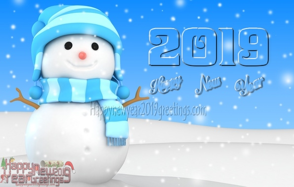 happy new year 2019 3d pics download
