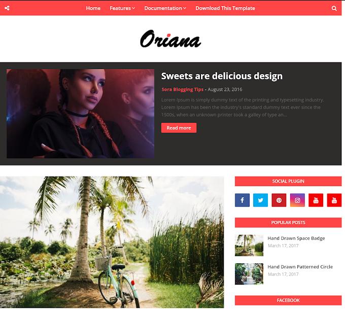 Download Orian Premium Version Blogger Template