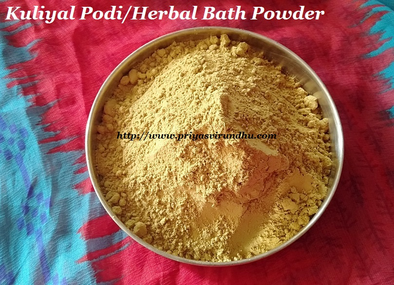 Priya S Virundhu Kuliyal Podi Herbal Bath Powder Nalangu Maavu