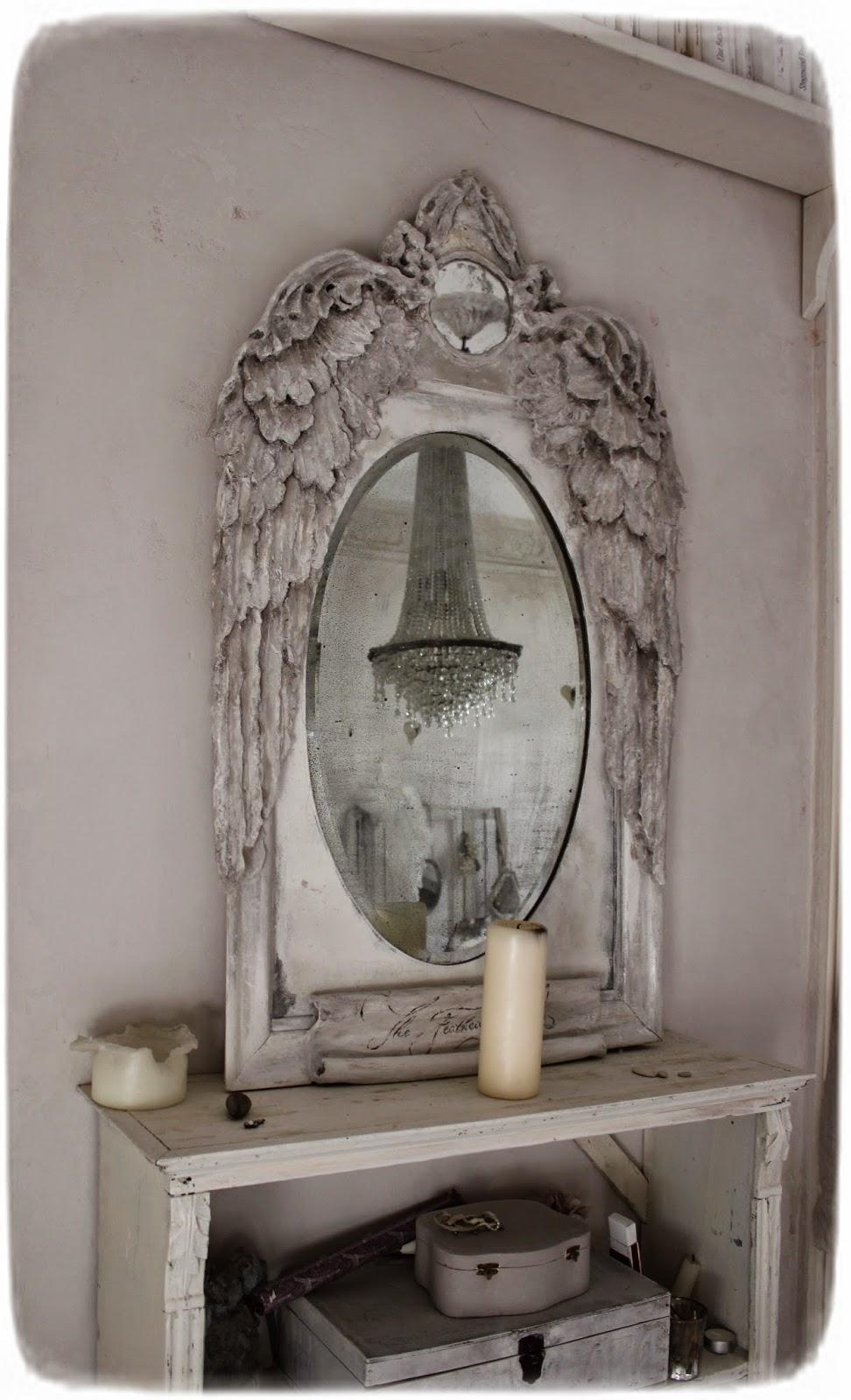 """méas vintage: vorher-nachher spiegel """"feathered moon"""", Hause ideen"""