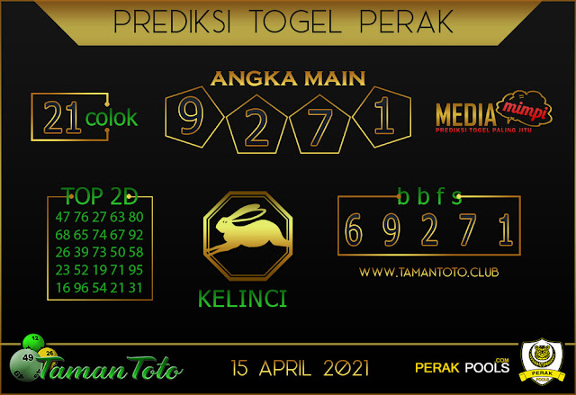 Prediksi Togel PERAK TAMAN TOTO 15 APRIL 2021