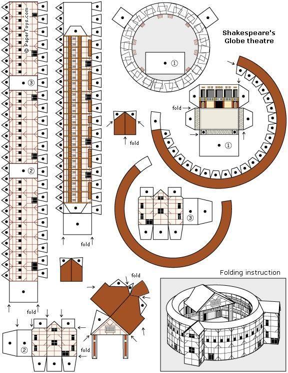Todorecortables sue os de papel recortables de monumentos for Draw up your own house plans