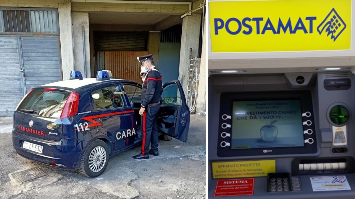 Aci catena Carabinieri furto postamat