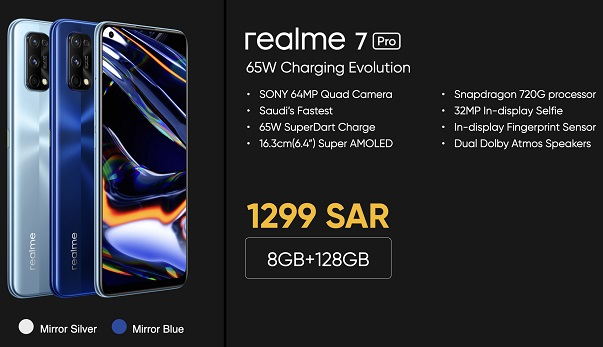 Realme 7 Pro - Specs, Features and Pricing in Saudi Arabia