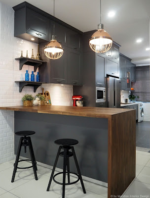 Industrial Country Kitchen Design by Meridian Interior Design
