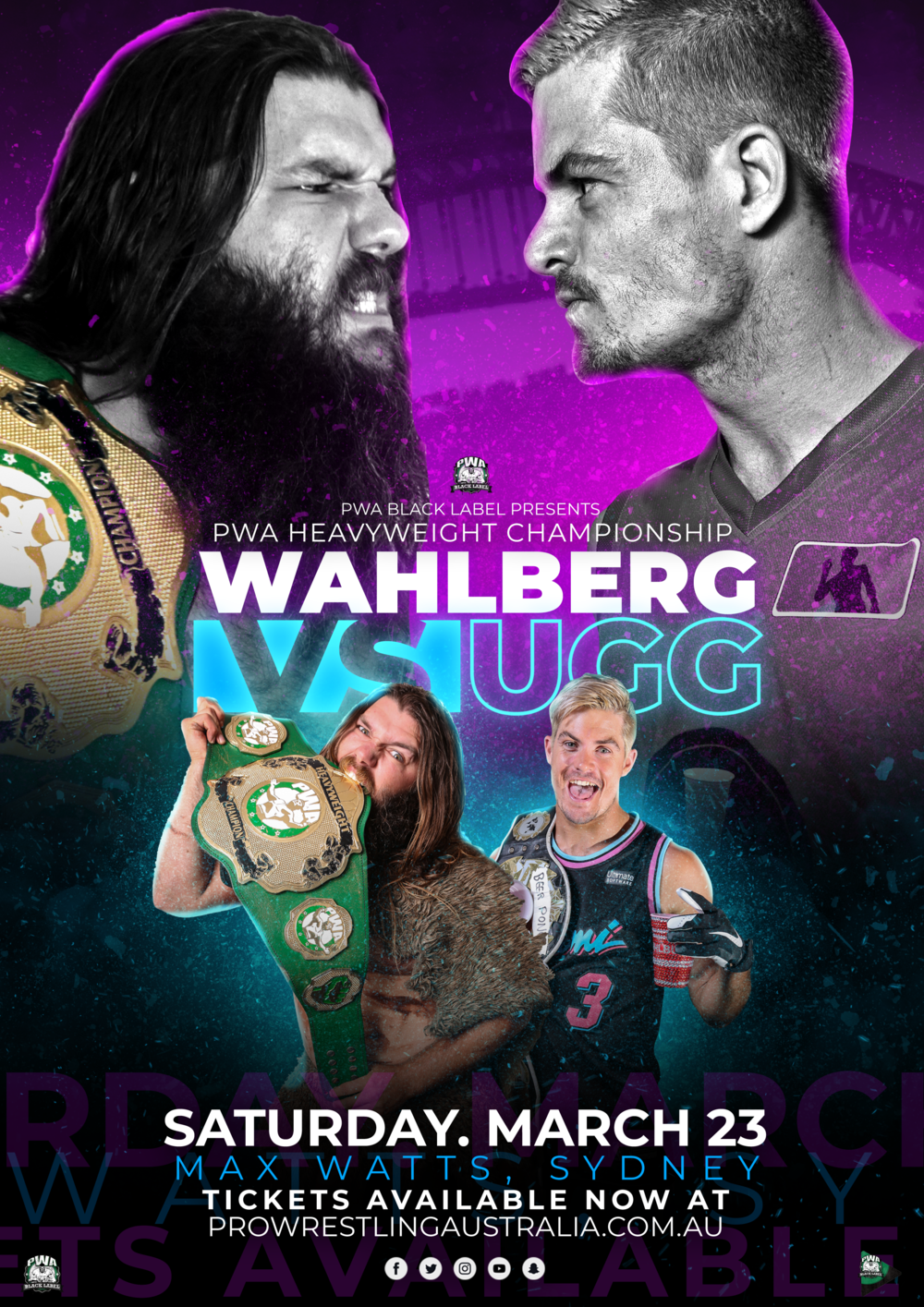 5a95a811872 LIVE SHOW REVIEW: PWA Black Label: Wahlberg vs Ugg (Max Watts ...